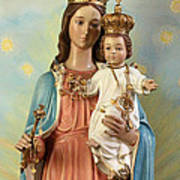 Mary Statue At Taybeh Village Poster