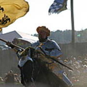 Maryland Renaissance Festival - Jousting And Sword Fighting - 1212130 Poster by DC Photographer