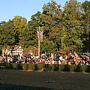 Maryland Renaissance Festival - Jousting And Sword Fighting - 12124 Poster