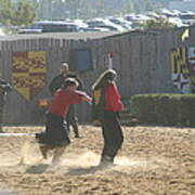 Maryland Renaissance Festival - Jousting And Sword Fighting - 121278 Poster
