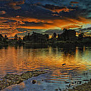Mary's Lake Sunrise Poster