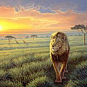 Masai Mara Sunset Poster