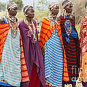 Masai Women Kenya Poster