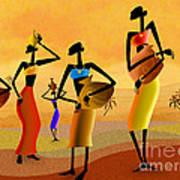 Masai Women Quest For Water Poster
