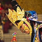 Masked Lama Performing Ritual Dance Poster