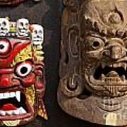 Masks In Kathmandu Nepal Poster