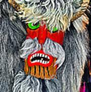 Masks. Next To Bran Castle - Dracula's Castle.  Poster