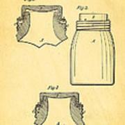 Mason Fruit Jar Patent Art 1870 Poster