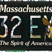 Massachusetts License Plate Poster