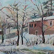 Massachusetts Snowfall Poster