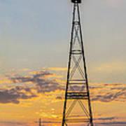 Massey Windmill Silhouette Poster