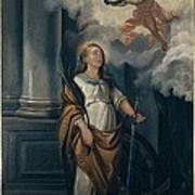 Massimo Diodato, St Catherine Poster by Everett