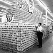 Massive Beer Display Poster by Retro Images Archive