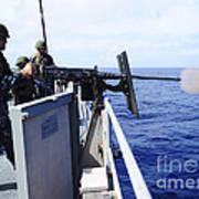 Master-at-arms Fires A .50-caliber Poster