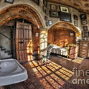 Master Bedroom At Fonthill Castle Poster by Susan Candelario