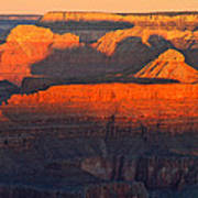 Mather Point Sunrise Grand Canyon National Park Poster