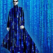 Matrix Neo Keanu Reeves Poster by Tony Rubino