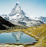 Matterhorn Cervin Reflection Poster