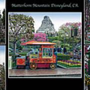 Matterhorn Mountain Disneyland Collage Poster