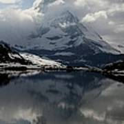 Matterhorn Reflection From Riffelsee Lake Poster