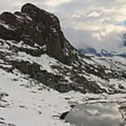 Matterhorn Shrouded In Clouds Poster by Jetson Nguyen