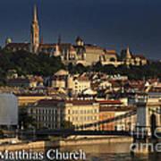 Matthias Church At Sunrise Budapest Hungary Poster