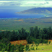 Maui Hawaii Upcountry View Poster