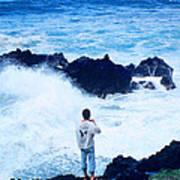 Maui Shore At The Keanae Pennisula 2 Poster