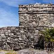 Mayan Building At Tulum Poster