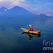 Mayan Fisherman Guatemala Poster