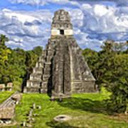Mayan Temple At Tikal Poster