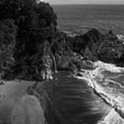 Mc Vay Falls In Monochrome  Poster