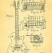 Mccarty Gibson Les Paul Guitar Patent Art 1955 Poster