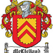 Mcclelland Coat Of Arms Ulster Ireland Poster