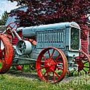 Mccormick Deering Red-wheeled Tractor Poster