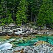 Mcdonald Creek In Glacier National Park Poster