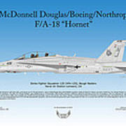 Mcdonnell Douglas Boeing Northrop Fa-18 Hornet Poster