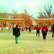 Mcgill Univ Students And Faculty College Campus Montreal Memories Collectible Art Prints C Spandau Poster