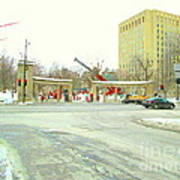 Mcgill University Campus Sherbrooke Street Scene Early Morning Winter Day Montreal Carole Spandau Poster