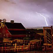 Mcintosh Farm Lightning Thunderstorm Poster by James BO  Insogna