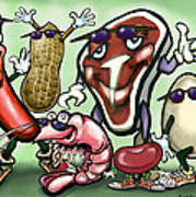 Meats Protein Food Group Poster