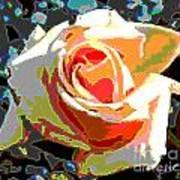 Medallion Rose Poster