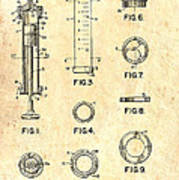 Medical Syringe Patent 1954 Poster