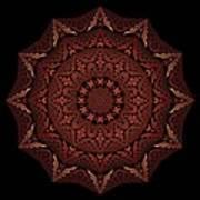 Medicine Wheel Dragonspur Fractal K12-4 Poster