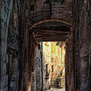 Medieval Alley Poster