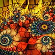 Medieval Ceremonial-fractal Art Poster