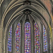 Medieval Stained Glass Poster