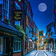Medieval Street In York Uk Poster