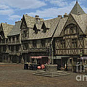 Medieval Town Square Poster
