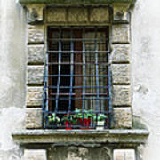 Medieval Window With Iron Grilles Poster